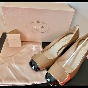 Auth NEW PRADA Calzature Donna Patent Vernice shoe